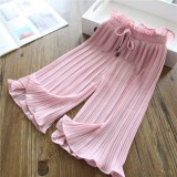 Girl Pleated Pants 8010