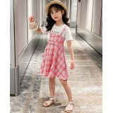 Fake 2pcs Dress 8058