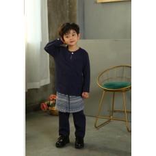 Baju Melayu 3pcs Set 2000 Navy