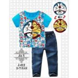 Boy Kids Double-sided Sequins Cartoon Embroidery 2pcs Set - J012